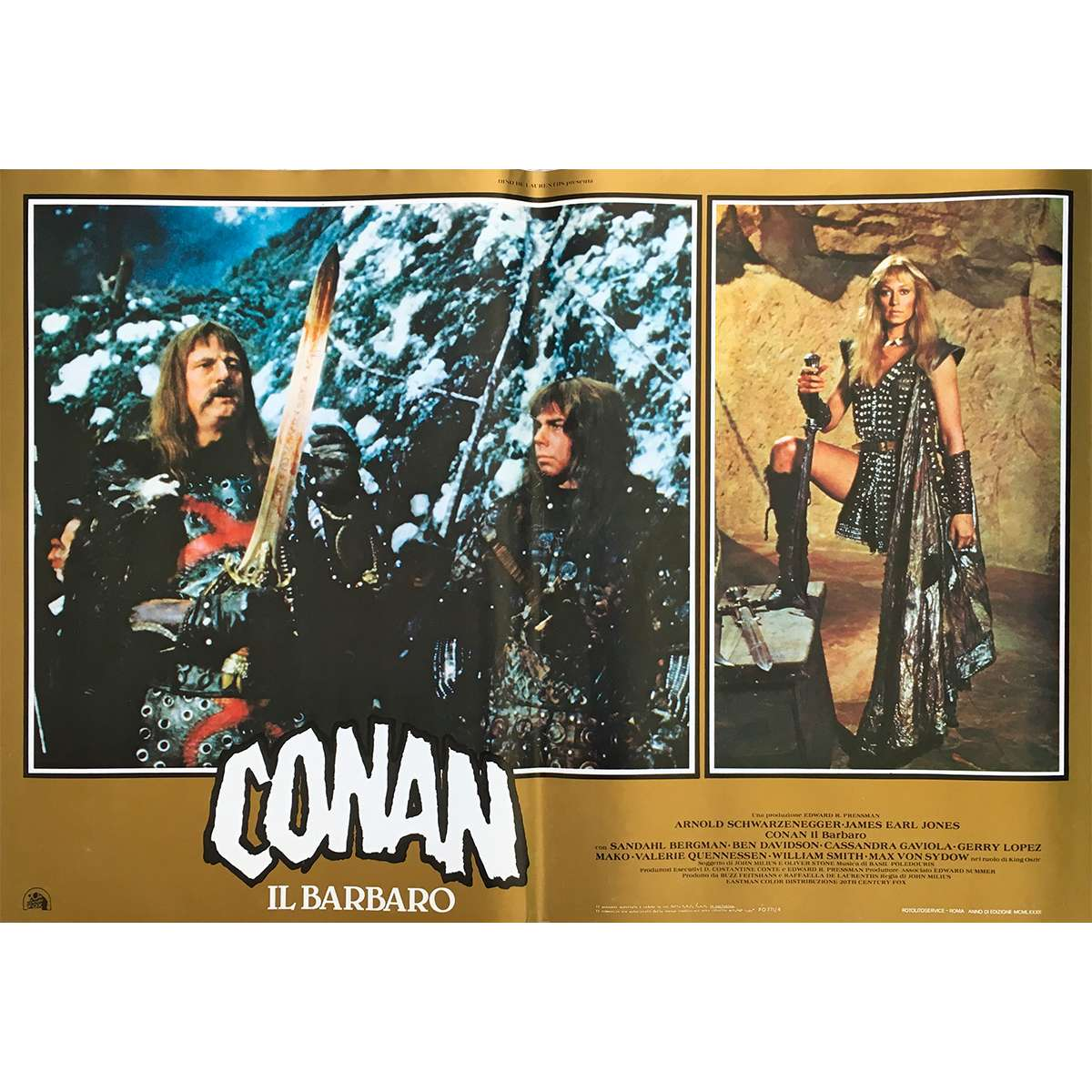 CONAN THE BARBARIAN Movie Poster 18x26 In