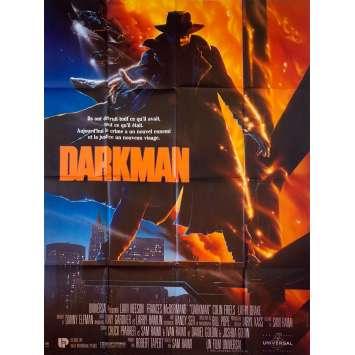 DARKMAN Original Movie Poster - 47x63 in. - 1990 - Sam Raimi, Liam Neeson