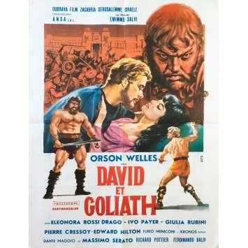 DAVID ET GOLIATH Affiche de film - 60x80 cm. - 1960 - Orson Welles, Ferdinando Baldi