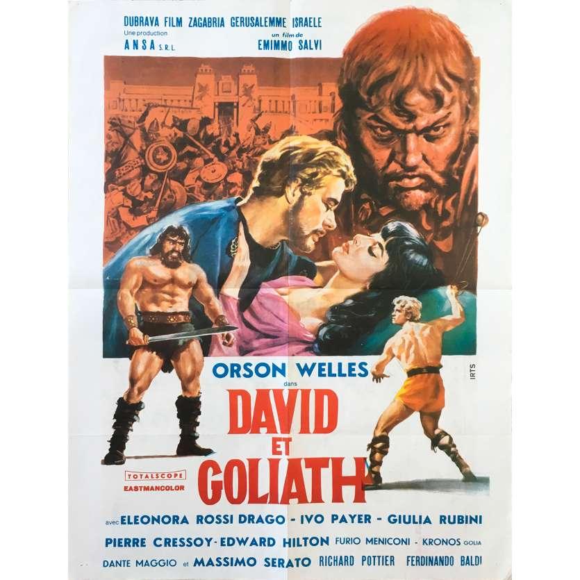 DAVID AND GOLIATH Original Movie Poster - 23x32 in. - 1960 - Ferdinando Baldi, Orson Welles