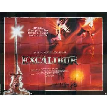EXCALIBUR Original Movie Poster - 158x118 in. - 1981 - John Boorman, Nigel Terry, Helen Mirren