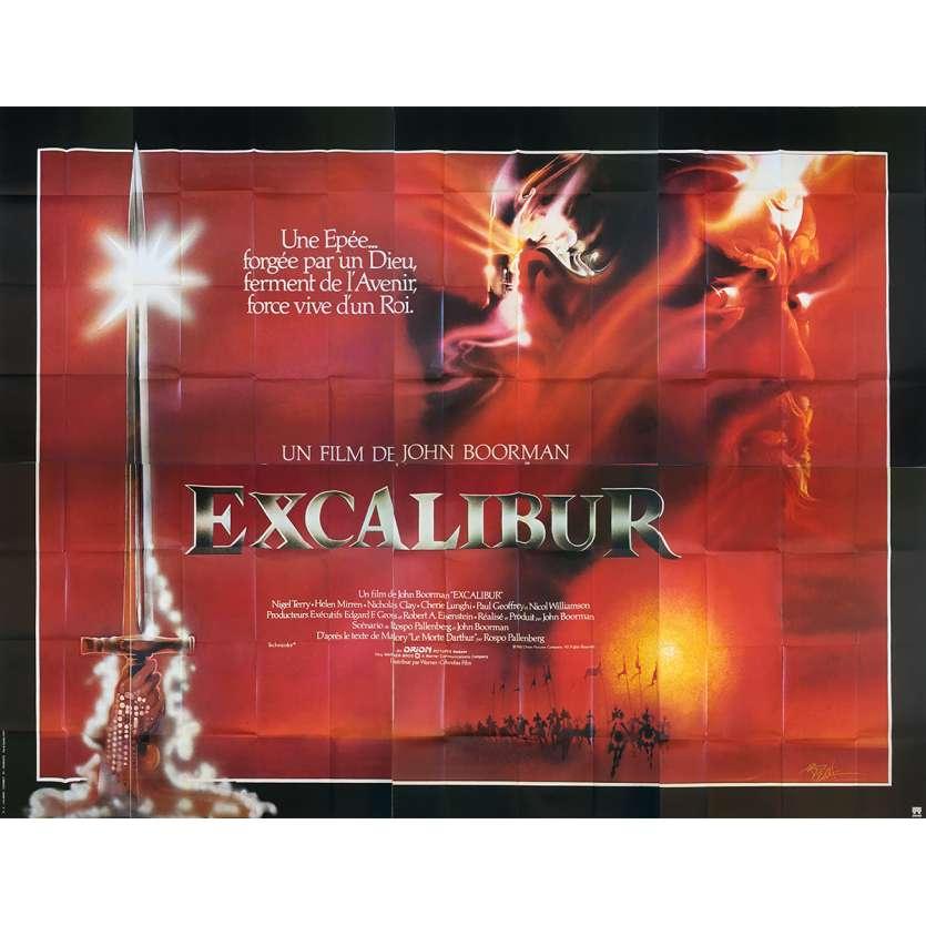 EXCALIBUR Affiche de film - 400x300 cm. - 1981 - Nigel Terry, Helen Mirren, John Boorman