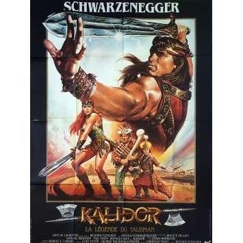 KALIDOR Affiche de film - 120x160 cm. - 1985 - Arnold Schwarzenegger, Richard Fleisher