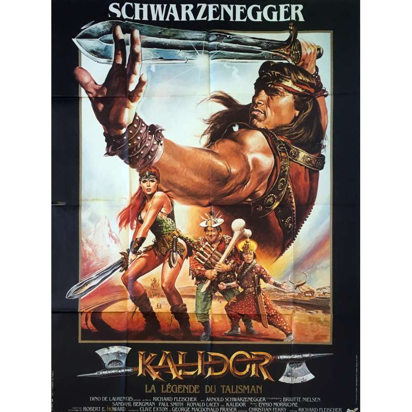 KALIDOR Original Movie Poster - 47x63 in. - 1985 - Richard Fleisher, Arnold Schwarzenegger