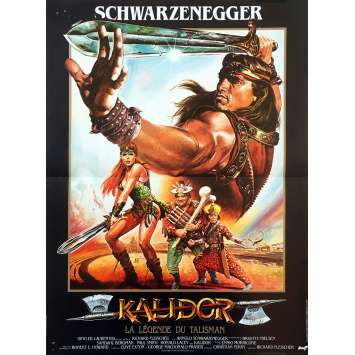 KALIDOR Original Movie Poster - 15x21 in. - 1985 - Richard Fleisher, Arnold Schwarzenegger