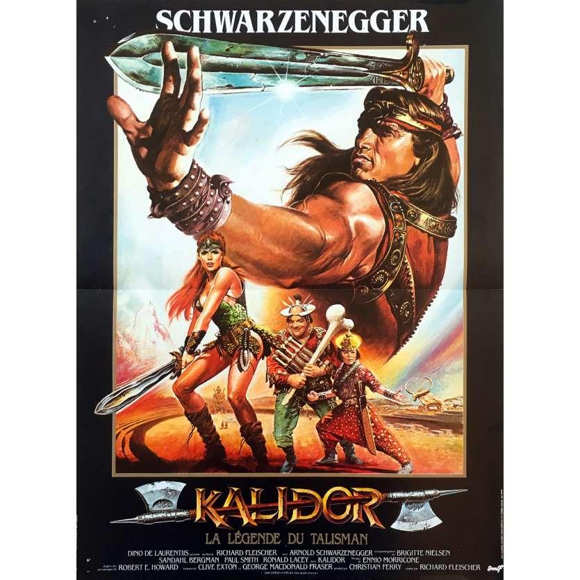 KALIDOR Original Movie Poster - 15x21 in. - 1985 - Richard Fleisher, Arnold Schwarzenegger