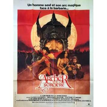 L'ARCHER ET LA SORCIERE Affiche de film - 120x160 cm. - 1981 - Lane Caudell, Nicholas Corea