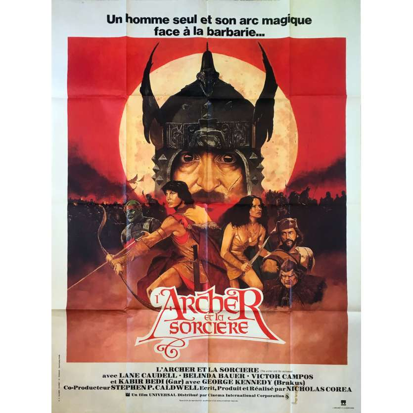 THE ARCHER AND THE SORCERESS Original Movie Poster - 47x63 in. - 1981 - Nicholas Corea, Lane Caudell