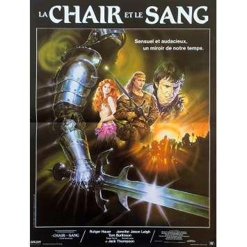 LA CHAIR ET LE SANG Affiche de film - 40x60 cm. - 1985 - Rutger hauer, Paul Verhoeven