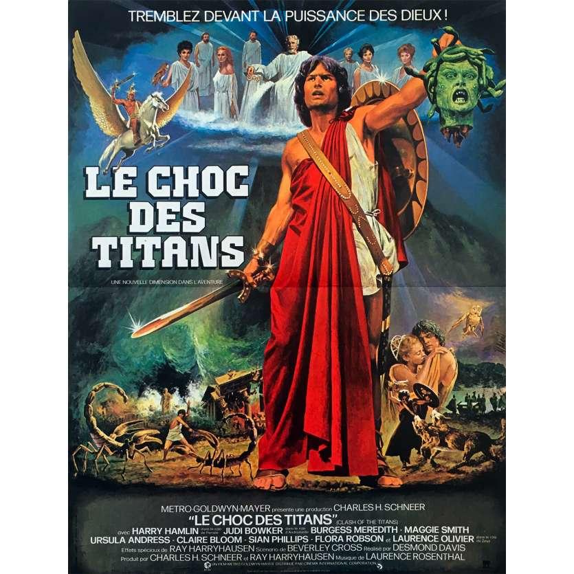 CLASH OF THE TITANS Original Movie Poster - 15x21 in. - 1981 - Desmond Davis, Lawrence Oliver
