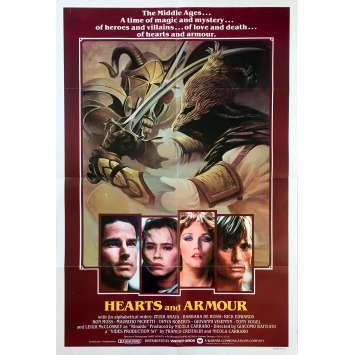 HEARTS AND ARMOUR Original Movie Poster - 27x40 in. - 1983 - Giacomo Battiato, Zeudi Araya Cristaldi