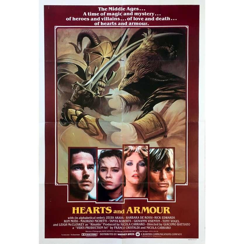 HEARTS AND ARMOUR Original Movie Poster - 27x40 in. - 1983 - Giacomo Battiato, Zeudi Araya Cristaldi