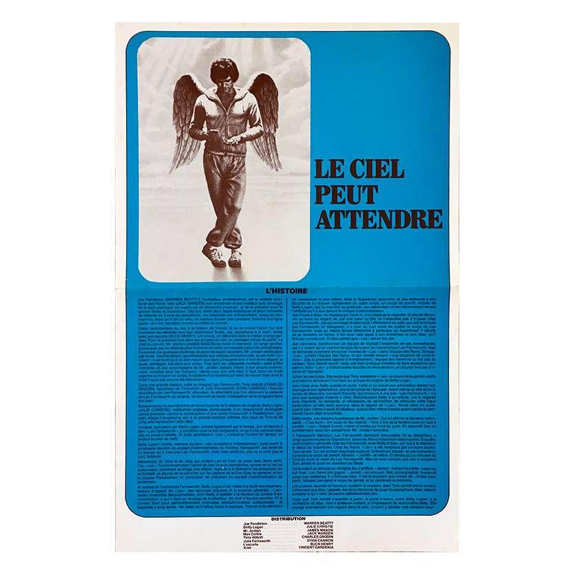 LE CIEL PEUT ATTENDRE Synopsis 4p - 21x30 cm. - 1978 - Julie Christie, Warren Beatty