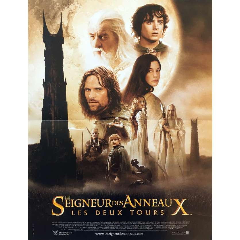 LORD OF THE RING - THE TWO TOWERS Original Movie Poster - 15x21 in. - 2002 - Peter Jackson, Viggo Mortensen