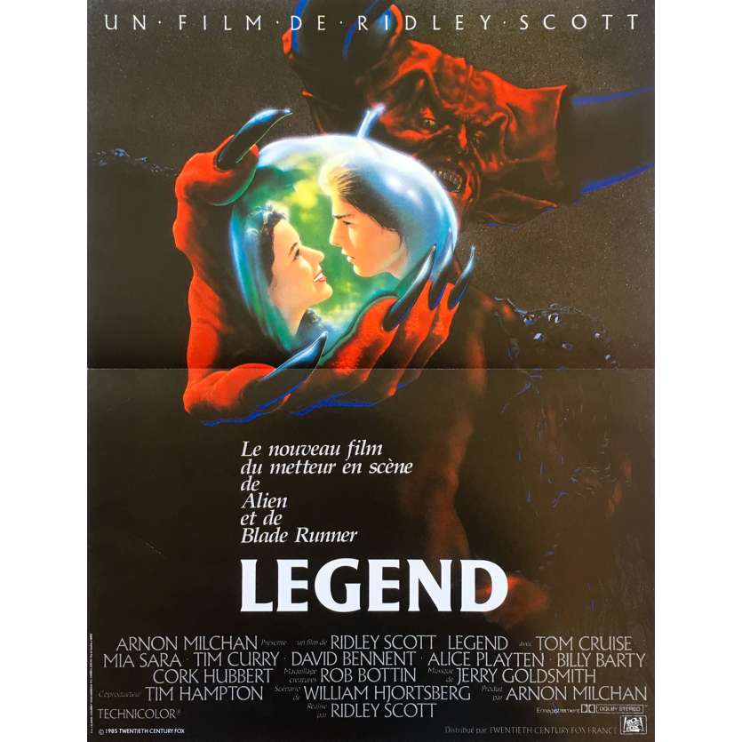 LEGEND Original Movie Poster - 15x21 in. - 1986 - Ridley Scott, Tom Cruise