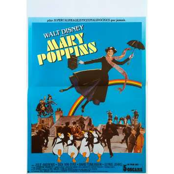 MARY POPPINS Original Movie Poster - 15x21 in. - 1964 - Robert Stevenson, Julie Andrews