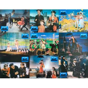 MARY POPPINS Original Lobby Cards x14 - 9x12 in. - 1964 - Robert Stevenson, Julie Andrews