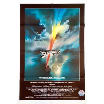 SUPERMAN Original Movie Poster Intl - 27x40 in. - 1978 - Richard Donner, Christopher Reeves