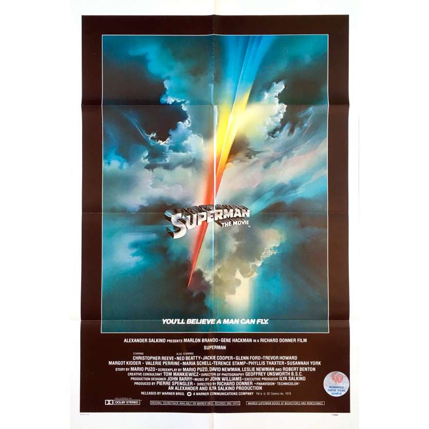 SUPERMAN Affiche de film Intl - 69x102 cm. - 1978 - Christopher Reeves, Richard Donner