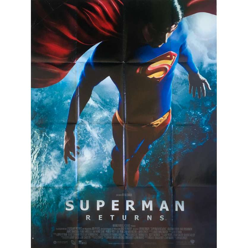 SUPERMAN RETURNS Affiche de film - 120x160 cm. - 2006 - Brandon Routh, Bryan Singer
