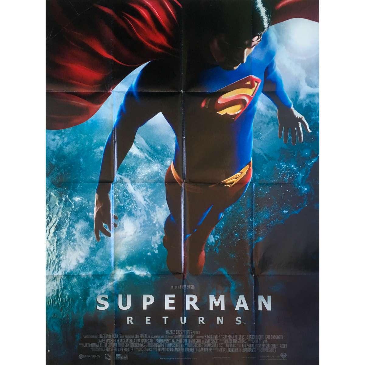 SUPERMAN RETURNS Original Movie Poster - 47x63 in  - 2006 - Bryan Singer,  Brandon Routh