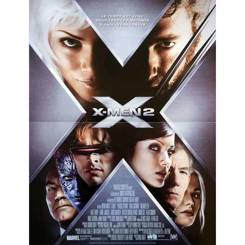 X2 X-MEN UNITED Original Movie Poster - 15x21 in. - 2003 - Bryan Singer, Hugh Jackman