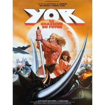 YOR THE HUNTER FROM THE FUTURE Original Movie Poster - 15x21 in. - 1983 - Antonio Margheriti, Reb Brown