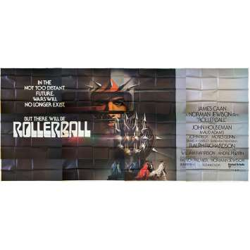 ROLLERBALL Original Movie Poster 12 panels - 9x20 ft. - 1975 - Norman Jewinson, James Caan