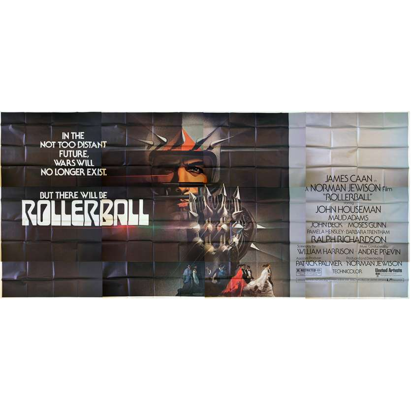 ROLLERBALL Original Movie Poster 12 panels - 9x20 ft. - 1975 - Norman Jewinson, James Caan