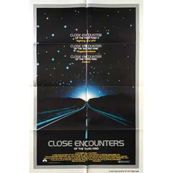 CLOSE ENCOUNTERS OF THE THIRD KIND Original Movie Poster - 27x41 in. - 1977 - Steven Spielberg, Richard Dreyfuss