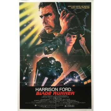 BLADE RUNNER Original Movie Poster Studio Style - 27x41 in. - 1982 - Ridley Scott, Harrison Ford