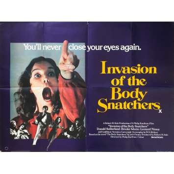 INVASION OF THE BODY SNATCHERS Original Movie Poster - 30x40 in. - 1978 - Philip Kaufman, Donald Sutherland