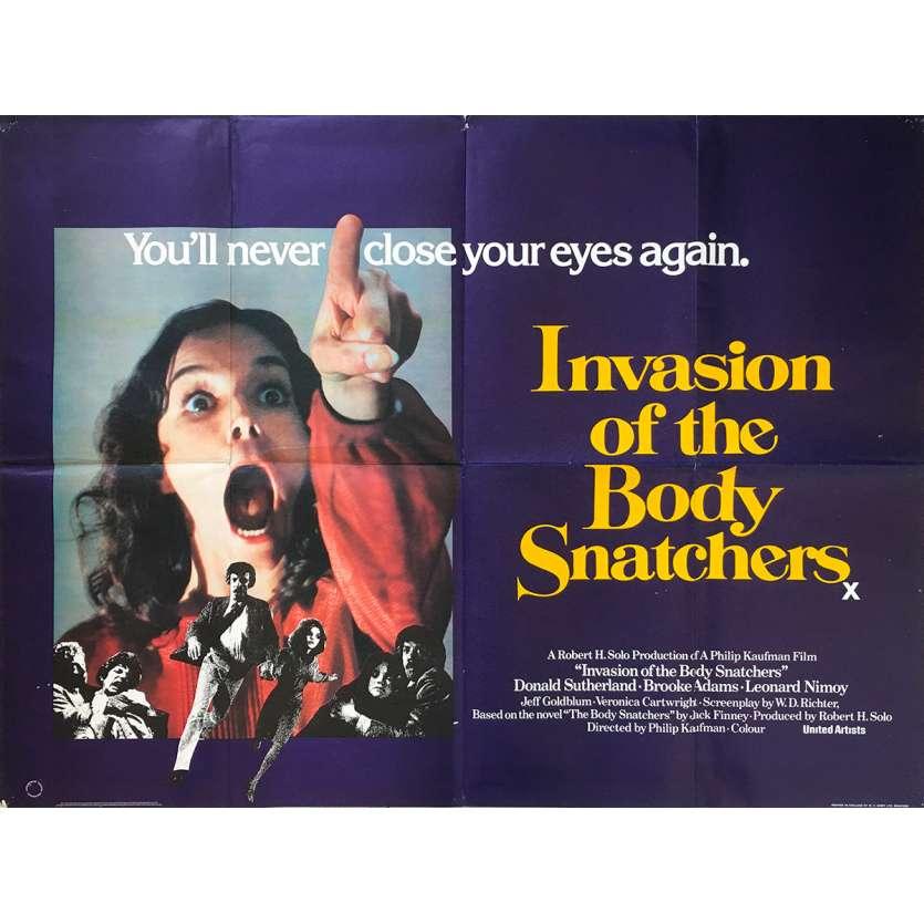 L'INVASION DES PROFANATEURS Affiche de film - 76x102 cm. - 1978 - Donald Sutherland, Philip Kaufman