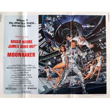 MOONRAKER Original Movie Poster - 21x28 in. - 1979 - James Bond, Roger Moore