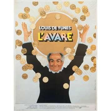 L'AVARE Affiche de film - 40x60 cm. - 1980 - Louis de Funes, Jean Girault