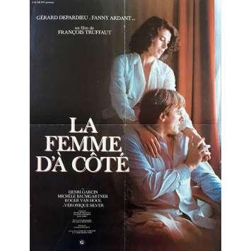 LA FEMME D'A COTE Affiche de film - 40x60 cm. - 1981 - Gérard Depardieu, François Truffaut