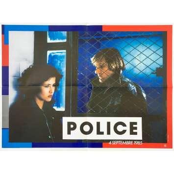 POLICE Affiche de film - 60x80 cm. - 1985 - Gérard Depardieu, Maurice Pialat
