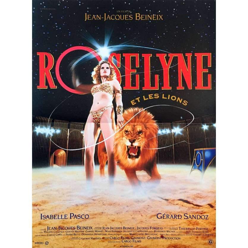 ROSELYNE ET LES LIONS French Movie Poster 15x21 '89 Beineix