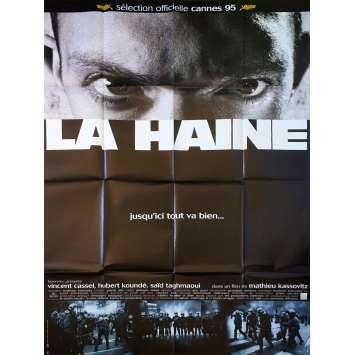 HATE Original Movie Poster Style A - 47x63 in. - 1995 - Mathieu Kassovitz, Vincent Cassel