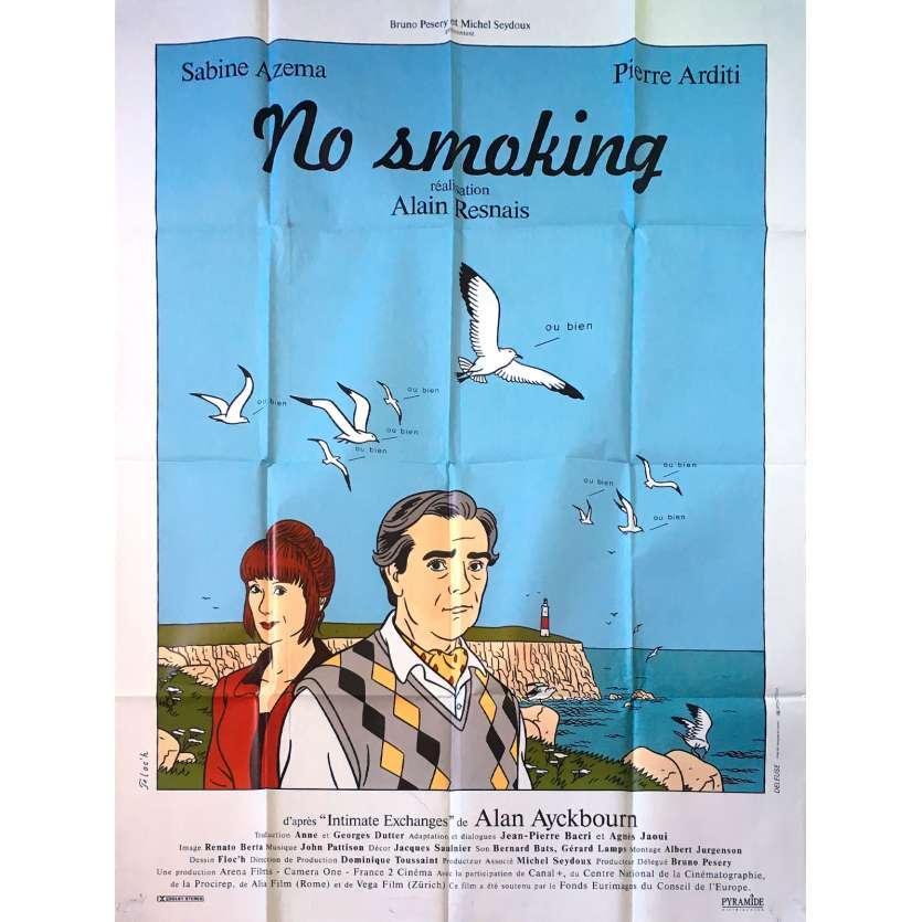 NO SMOKING Original Movie Poster - 47x63 in. - 1993 - Alain Resnais, Pierre Arditti