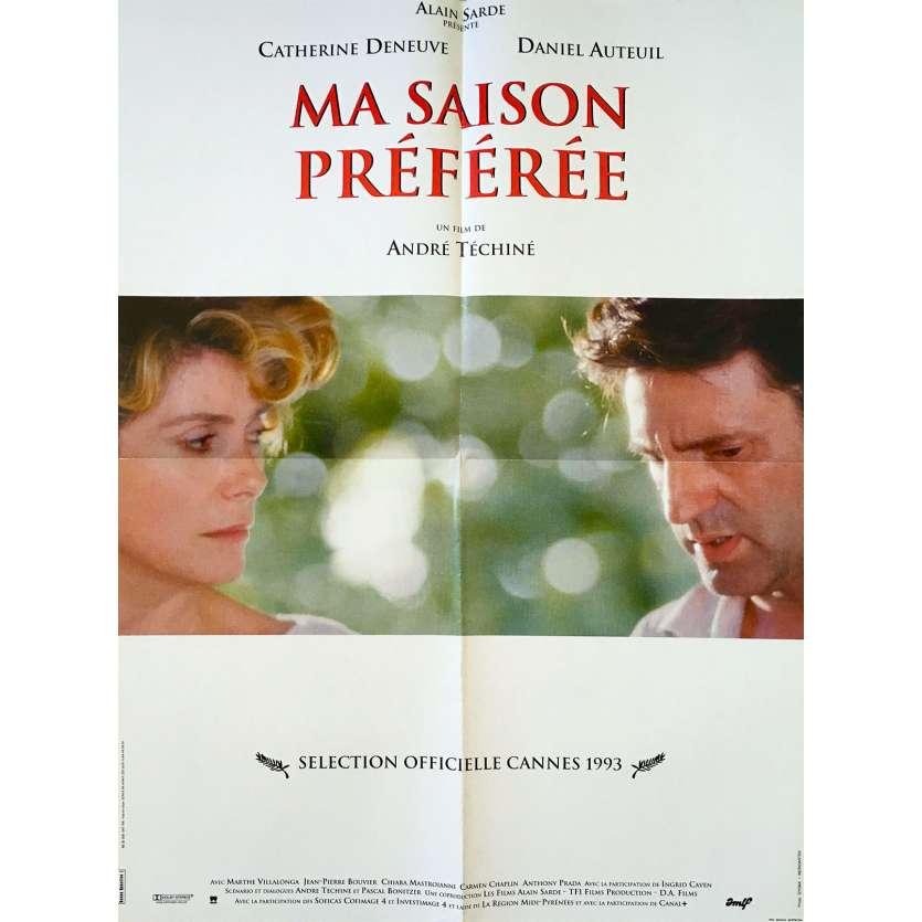 MY FAVORITE SEASON Original Movie Poster - 23x32 in. - 1993 - André Téchiné, Catherine Deneuve