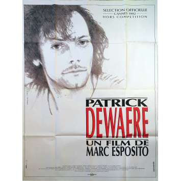 PATRICK DEWAERE Original Movie Poster - 47x63 in. - 1992 - Marc Esposito, Patrick Dewaere