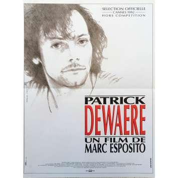PATRICK DEWAERE Affiche de film - 40x60 cm. - 1992 - Patrick Dewaere, Marc Esposito