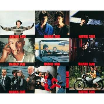 MAUVAIS SANG Original Lobby Cards x9 - 9x12 in. - 1986 - Leos Carax, Juliette Binoche