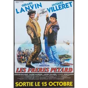 LES FRERES PETARD Affiche de film - 40x60 cm. - 1986 - Gérard Lanvin, Hervé Palud
