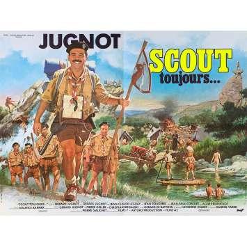 SCOUT TOUJOURS Affiche de film - 60x80 cm. - 1985 - Jean-Claude Leguay, Gérard Jugnot