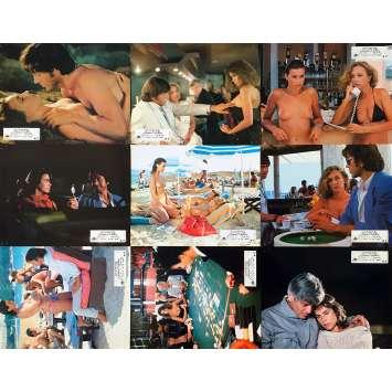 L'ANNEE DES MEDUSES Original Lobby Cards x9 - 9x12 in. - 1984 - Bernard Giraudeau, Valérie Kaprisky