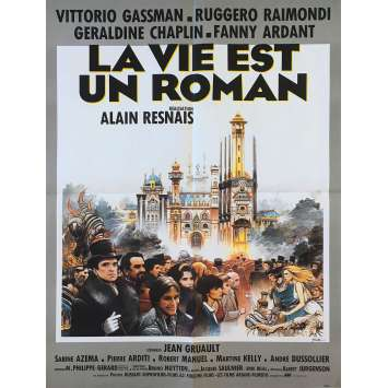 LIFE IS A BED OF ROSES Original Movie Poster - 23x32 in. - 1983 - Alain Resnais, Vittorio Gassman