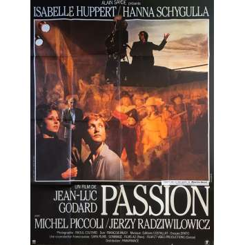 PASSION Original Movie Poster - 47x63 in. - 1982 - Jean-Luc Godard, Isabelle Huppert