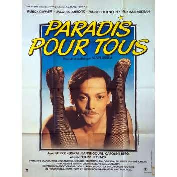 PARADIS POUR TOUS Affiche de film - 120x160 cm. - 1982 - Patrick Dewaere, Alain Jessua